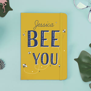 Personalised Bee You Yellow Notebook
