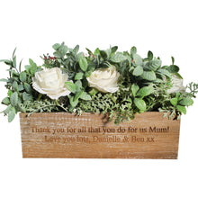 Load image into Gallery viewer, Personalised Wooden Artificial Flower Box