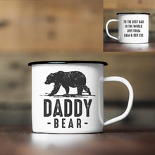 Load image into Gallery viewer, Personalised Daddy Bear Enamel Mug