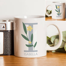 Load image into Gallery viewer, Personalised Floral Initial Mug