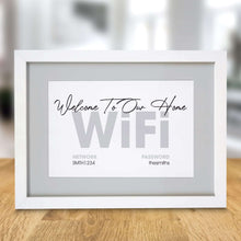 Load image into Gallery viewer, Personalised WIFI A4 Framed Print