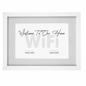 Personalised WIFI A4 Framed Print