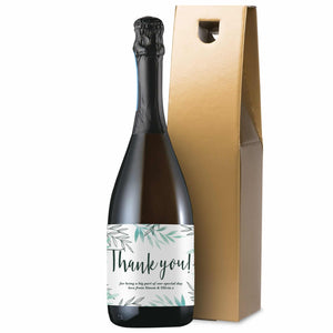Personalised Floral Thank You Prosecco