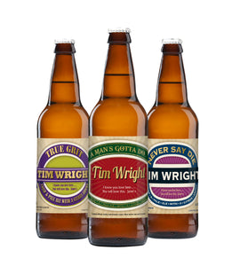Personalised Man's Virtues 3 Pack of Beer
