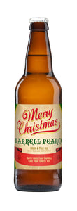 Personalised Christmas 3 Pack of Beer
