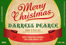 Load image into Gallery viewer, Personalised Christmas 3 Pack of Beer