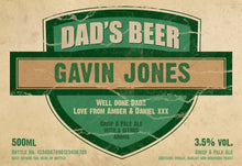 Load image into Gallery viewer, Personalised Dad's 3 Pack of Beer