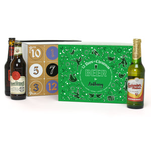 Personalised 12 Days of Christmas Advent Gift Box - Beer