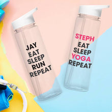 Load image into Gallery viewer, Personalised Eat Sleep Repeat Water Bottle