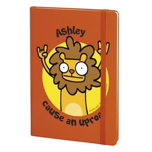 Personalised Cause An Uproar Orange Notebook
