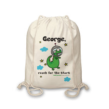 Load image into Gallery viewer, Personalised Cosmic Dinosaur Drawstring Bag