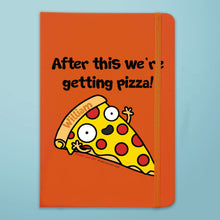 Load image into Gallery viewer, Personalised Pizza Orange Notebook