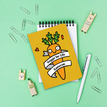 Load image into Gallery viewer, Personalised Veggie For Life Yellow Notebook