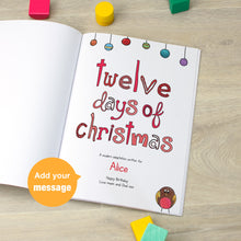 Load image into Gallery viewer, Personalised 12 Days of Christmas Book