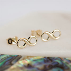 9ct Gold Infinity Earrings