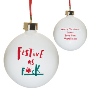 Personalised Festive As Bauble