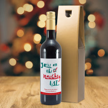 Load image into Gallery viewer, Personalised Naughty List Mulled Wine
