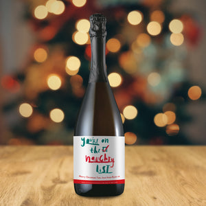 Personalised Naughty List Prosecco