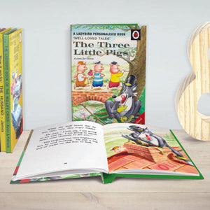 Personalised The Three Little Pigs: A Classic Ladybird Book