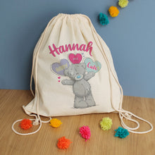 Load image into Gallery viewer, Personalised Me To You Pastel Pop Drawstring Bag