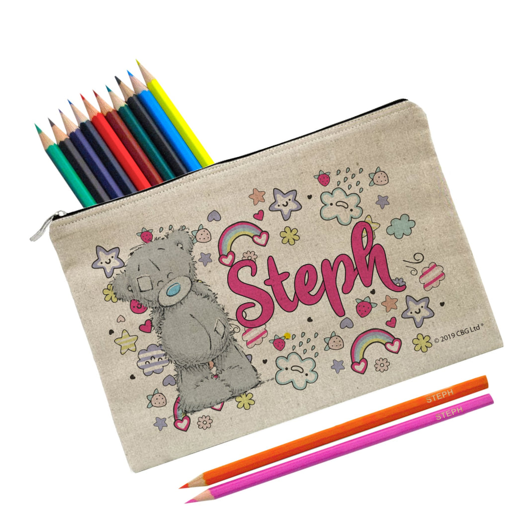 Personalised Me To You Pastel Pop Pencil Case & Pencils