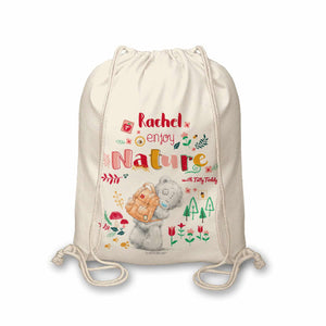Personalised Me To You Enjoy Nature Drawstring Bag
