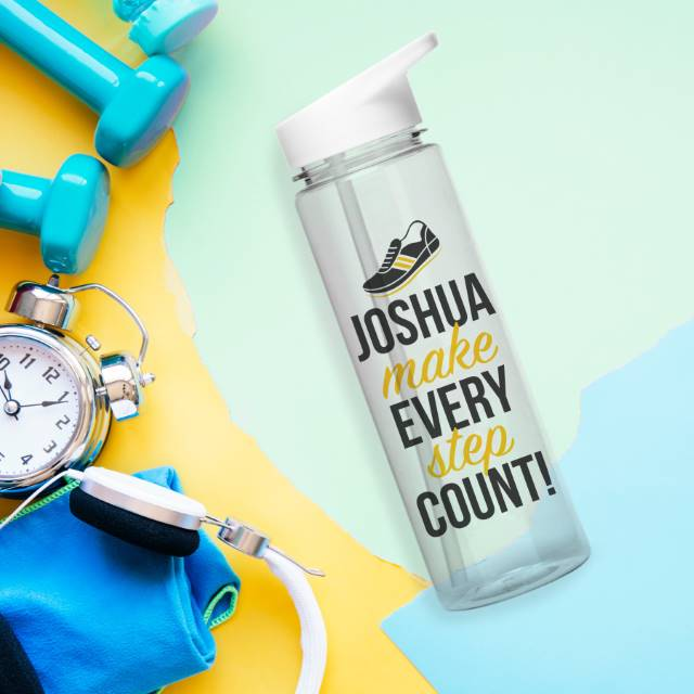 Personalised Make Every Step Count Water Bottle