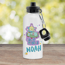 Load image into Gallery viewer, Personalised Moon and Me Colly Wobble White Drinks Bottle