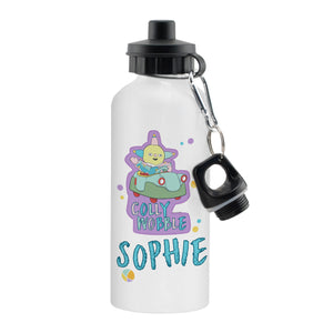 Personalised Moon and Me Colly Wobble White Drinks Bottle