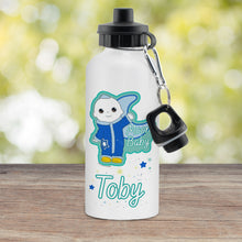 Load image into Gallery viewer, Personalised Moon and Me Moon Baby White Drinks Bottle