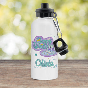 Personalised Moon and Me Sleepy Dibillo White Drinks Bottle