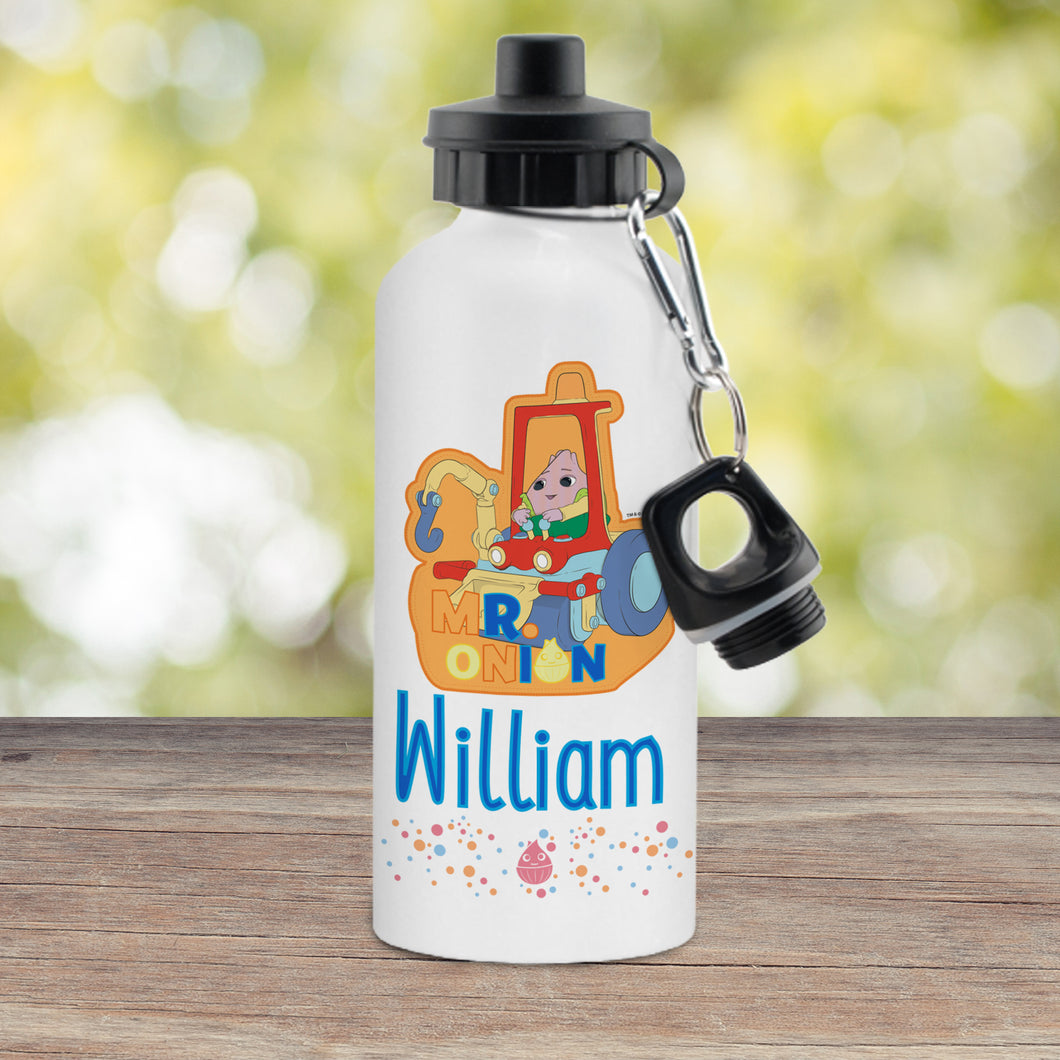 Personalised Moon and Me Mr Onion White Drinks Bottle