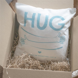 Personalised Virtual Hug By Post Cushion
