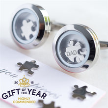 "Load image into Gallery viewer, Dad ""I Love You To Pieces"" Cufflinks"