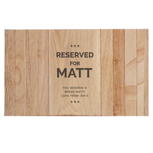Load image into Gallery viewer, Personalised Reserved For Wooden Sofa Tray
