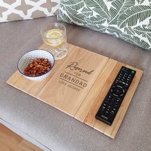 Load image into Gallery viewer, Personalised Classic Wooden Sofa Tray
