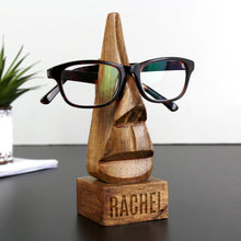 Load image into Gallery viewer, Personalised Wooden Nose-Shaped Glasses Holder