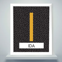 Load image into Gallery viewer, Personalised Initial White Framed Print