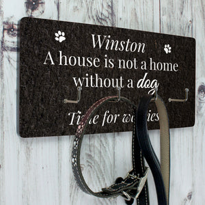 Personalised Dog Lead Hanger With 4 Hooks