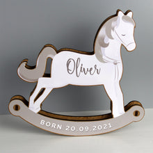 Load image into Gallery viewer, Personalised Make Your Own Rocking Horse 3D Decoration Kit