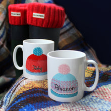 Load image into Gallery viewer, Personalised Bobble Hats Mug Set