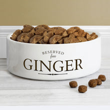 Load image into Gallery viewer, Personalised Reserved For 14cm Medium White Pet Bowl