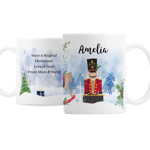 Personalised Nutcracker Christmas Mug