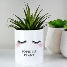 Load image into Gallery viewer, Personalised Eyelashes Ceramic Storage Pot