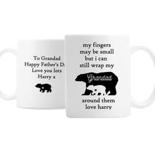 Load image into Gallery viewer, Personalised My Fingers May Be Small Bears Mug