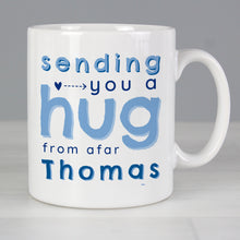 Load image into Gallery viewer, Personalised Blue Hug From Afar Mug