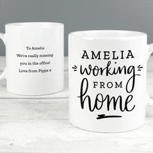 Load image into Gallery viewer, Personalised Working From Home Mug
