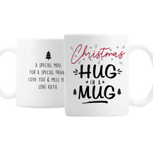 Load image into Gallery viewer, Personalised Christmas Hug In A Mug