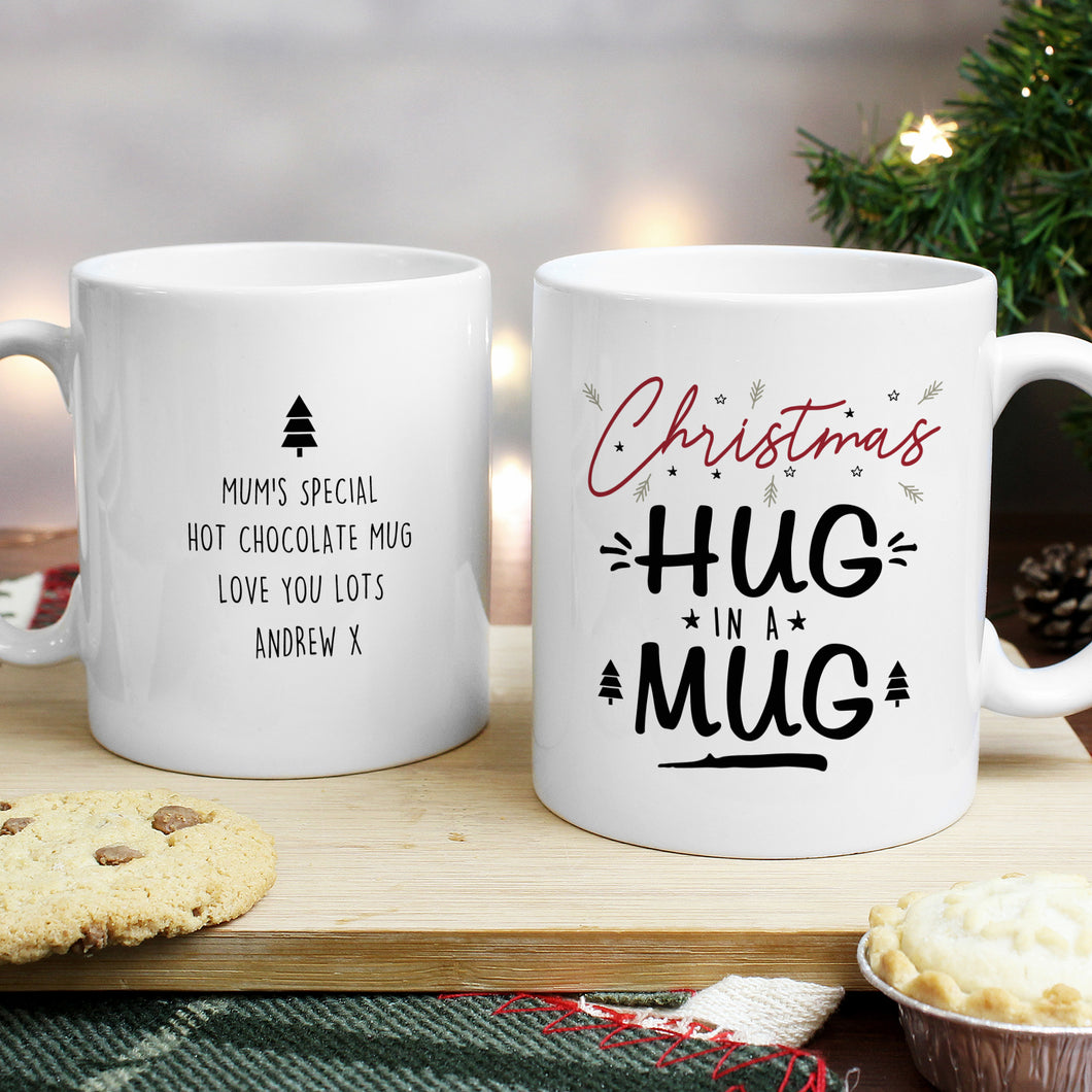Personalised Christmas Hug In A Mug