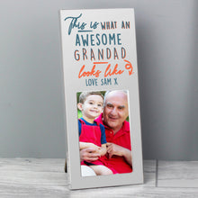 Load image into Gallery viewer, Personalised This Is What Awesome Looks Like Silver 2x3 Photo Frame